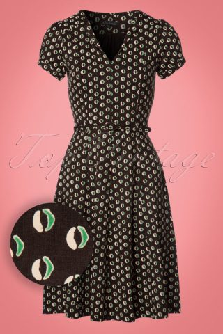 60s Lou Cocoa Dress in Brunette Brown