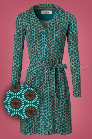 60s Susie's Shuffle Dress in Blue