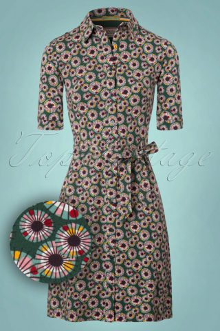 60s Love Me Now Dress in Green
