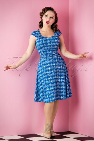 Bicycle Dress Royal Blue
